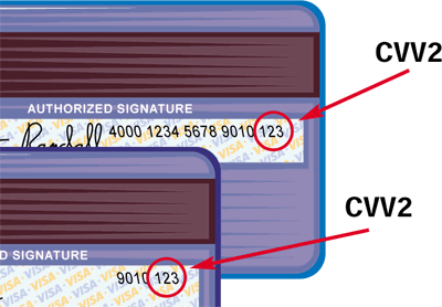 cvv2 - Код безопасности карты Visa