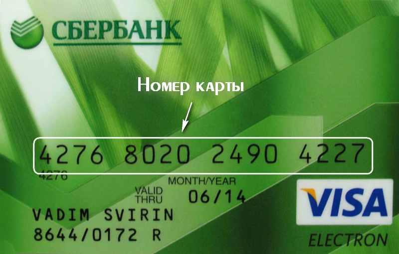 Номер карты Visa: где он находиться