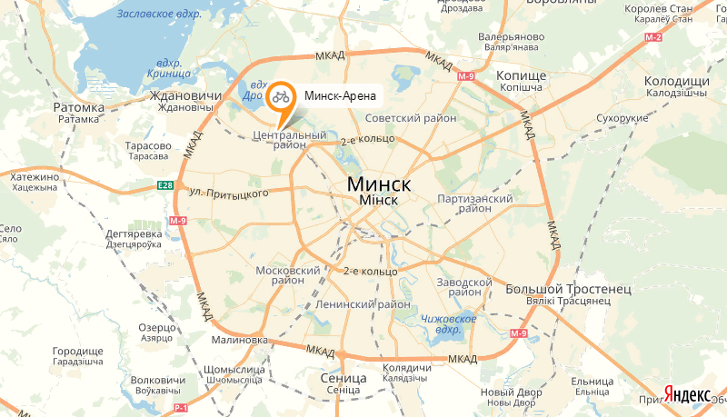 Пункт проката велосипедов Велодром Минск-Арены